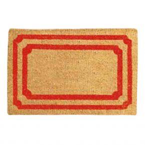 Kokosvelour-Matten - Rechtecke rot