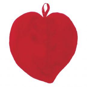 Herzform Wärmflasche mit Plüschbezug