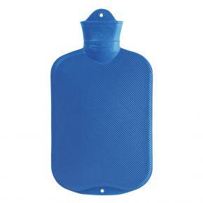 2.0 Liter Wärmflasche, Blau, 39 x 19 cm