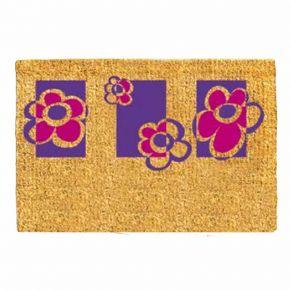 Kokosvelour-Matten, Blumen lila