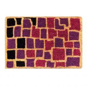 Kokosvelour-Matten - Mosaik lila