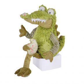Krokodil Christopher, gefüllt mit Kirschkern, 49 x 27 cm